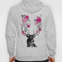 The Stag and Roses | Pink Hoody