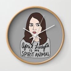April Ludgate is my spirit animal Wall Clock