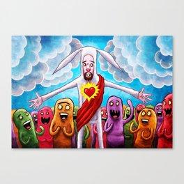 Bunny Christ Supah Stah Canvas Print