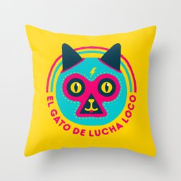 LUCHADORABLE Throw Pillow