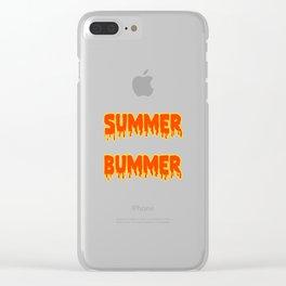 summer bummer Clear iPhone Case