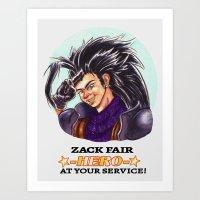 Zack Fair - HERO Art Print