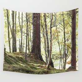 Leaves, Grass and gate lead to Walt Whitman of course Wall Tapestry