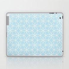 Baby blue Lotus Laptop & iPad Skin