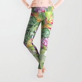 Tropical Garden 1A #society6 Leggings
