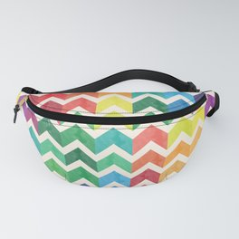 Watercolor Chevron Pattern IV Fanny Pack