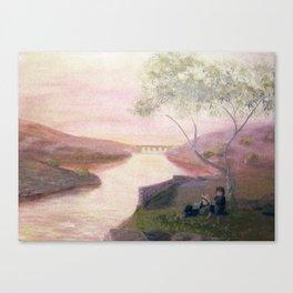Tuscan River Landscape Canvas Print