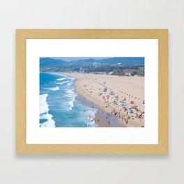 Santa Monica Beach I Framed Art Print