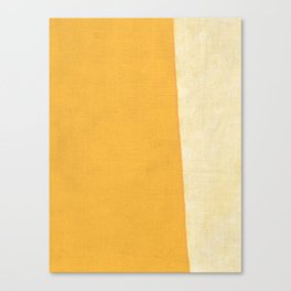 Yellow White Canvas Print