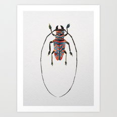 Beetle Watercolor I Art Print