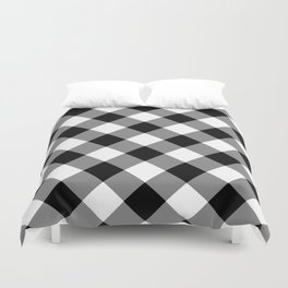 Gingham Plaid Black & White Duvet Cover
