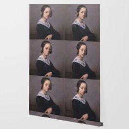 Portrait of Louise-Antoinette Feuardent Jean-François Millet Wallpaper