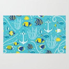 Deep Blue Sea Aqua Rug