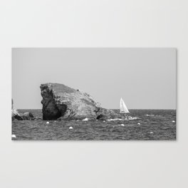 island and boat Canvas Print