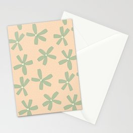 Green & Pink Floral Stationery Cards