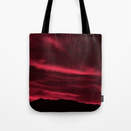 SW Burgundy Sunrise Tote Bag
