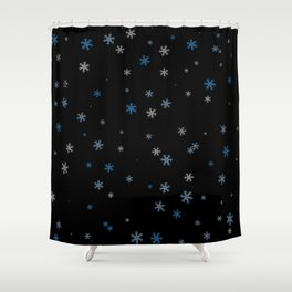 Snowy Blues | Veronica Nagorny Shower Curtain