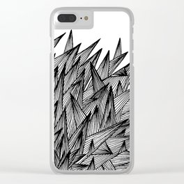 Triangle Jumble Clear iPhone Case