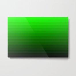 Radioactive Gradient Metal Print