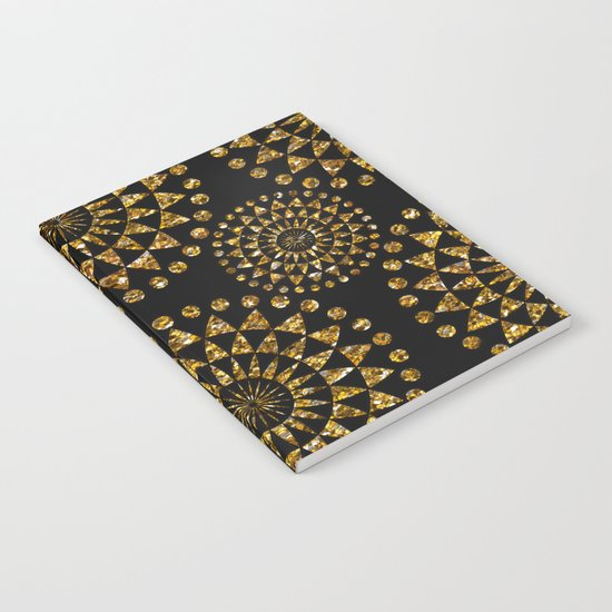Gold glamour and black elegance Notebook