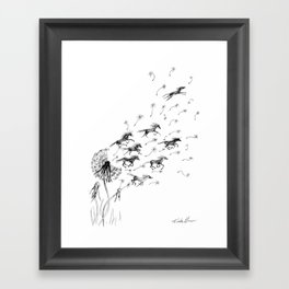If Wishes Were Horses Framed Art Print