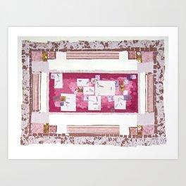 Pinkish Quilt Art Print