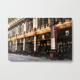 Leadenhall Market Shops Metal Print
