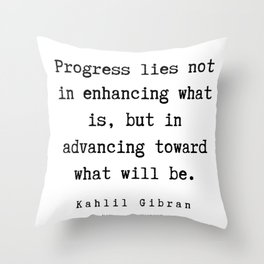 24   | Kahlil Gibran Quotes | 190701 Throw Pillow