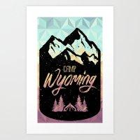 Camp Wyoming Design Art Print