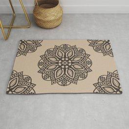 N107 - Oriental Traditional Moroccan Floral Mandala Design. Rug