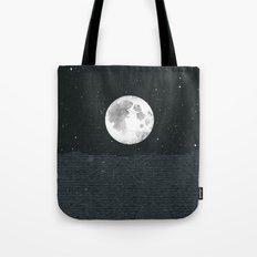Grey Moonscape Tote Bag