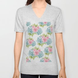 Succulents Flower Dream #1 #decor #art #society6 Unisex V-Neck
