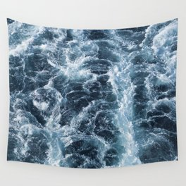 Sea Blue Wake - Pacific Ocean Wall Tapestry