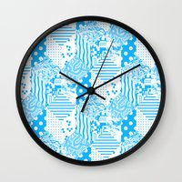 clear Wall Clocks featuring Clear Blue by Tyler Spangler