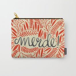 Pardon My French – Red on Cream Carry-All Pouch