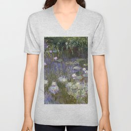 Water Lilies 1922 by Claude Monet Unisex V-Neck