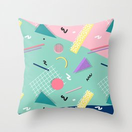 Dreaming 80s Pattern #society6 #decor #buyart Throw Pillow