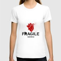 anatomical heart T-shirts featuring Fragile Anatomical Heart(RED) by J ō v