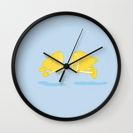 Catch the Half Lemon Wall Clock
