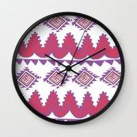 mexico Wall Clocks featuring Mexico by Hannah Martin