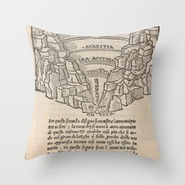 Overview of Hell Throw Pillow