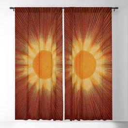 Celestial Red Sun Tapestry Astronomical Atlas portrait painting by Joseph Spoor Blackout Curtain
