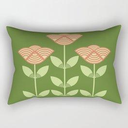 Three Japanese style flowers Rectangular Pillow