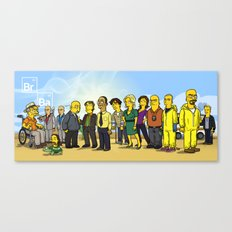 Breaking Bad cast Canvas Print