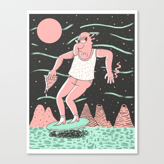 Spaceboard Canvas Print