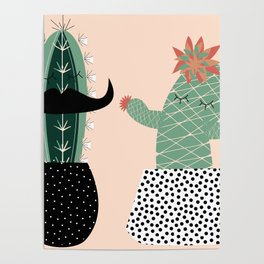Mr. and Mrs Succulent Poster