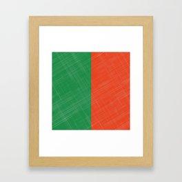 Retro Bicolore Pattern Framed Art Print