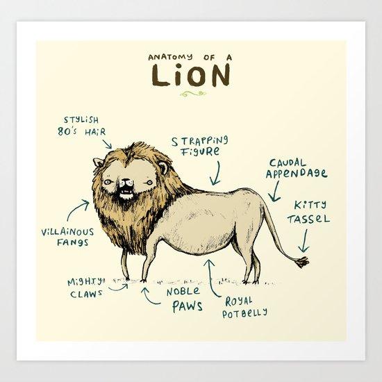 Anatomy of a Lion Art Print