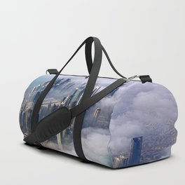 Doha Quatar Cityscape From Above The Clouds Ultra HD Duffle Bag