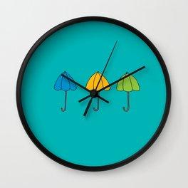 Umbrella Trio Wall Clock